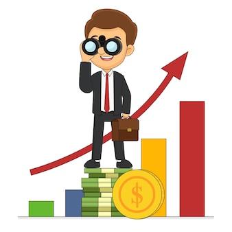 Бизнесмен ищет бизнес-будущее