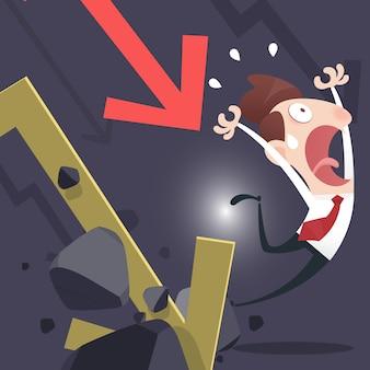Businessman lose money Premium Vector