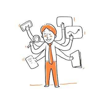 Businessman multi skill illustration