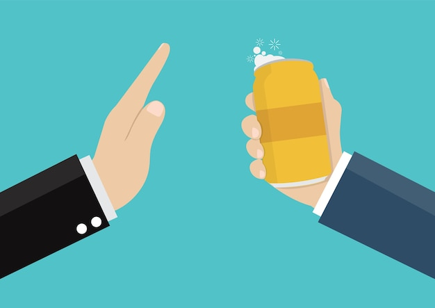 사업가 알코올 없음.