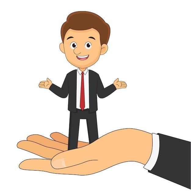 Бизнесмен или человек, идущий на большой руке
