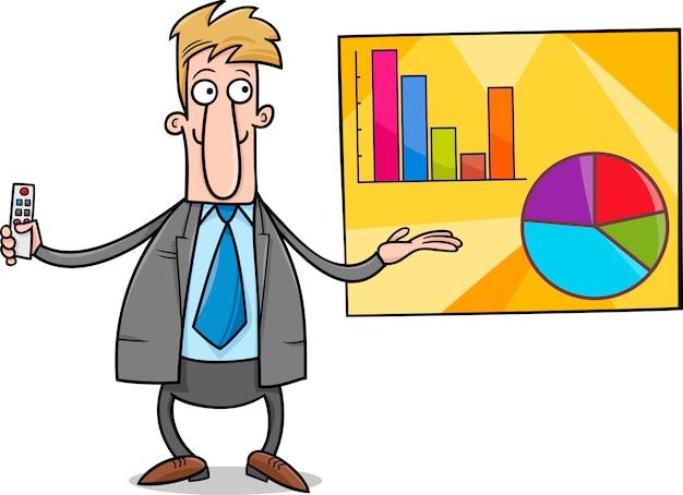 ビジネスマンプレゼンテーション