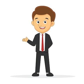 Представляя мультфильм профессии бизнесмена