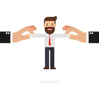 Бизнесмен вытащил две большие руки