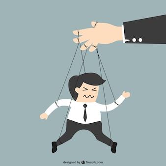 Businessman puppet cartoon