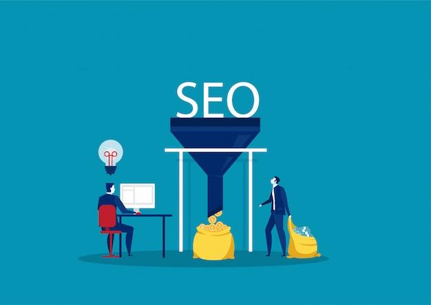 Web技術の概念に関するビジネスマン研究seo