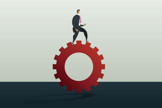 歯車機構に沿って実行している実業家。事業コンセプト
