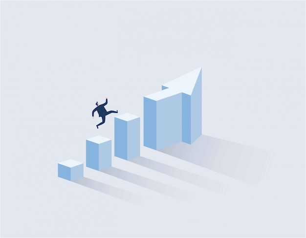 사업가 그래프의 상단에 실행입니다.