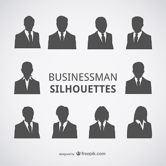 Businessman silhouettes avatars