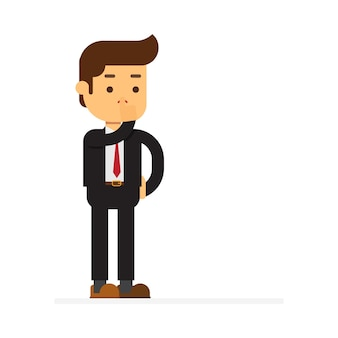 Businessman standing making be quiet