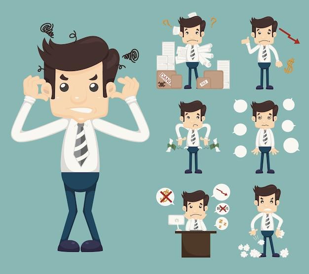Businessman stress pressure workplace stick