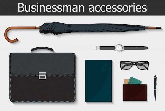 Businessman stuff accessories