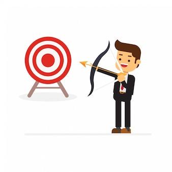 Businessman success target