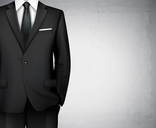 Businessman suit background with copyspace