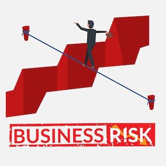 Businessman taking risk