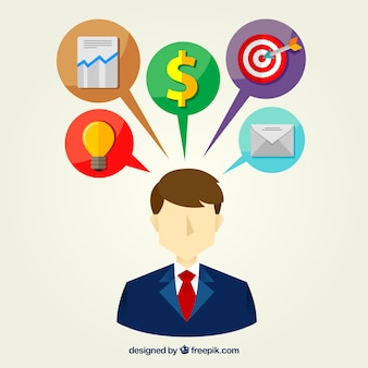 Businessman tasks