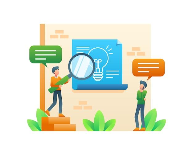 Бизнесмен мышления и в поисках бизнес-идеи