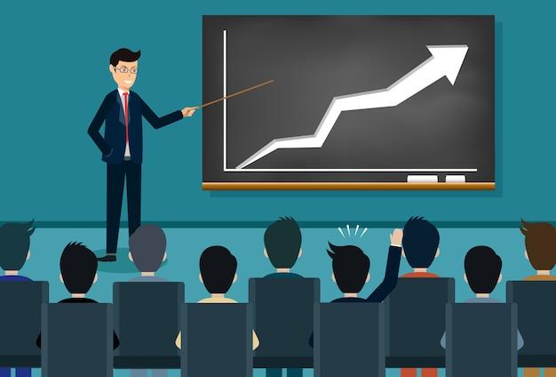 Businessman training concept