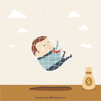 Businessman trapped in net