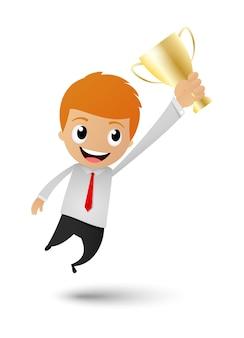 Businessman victory