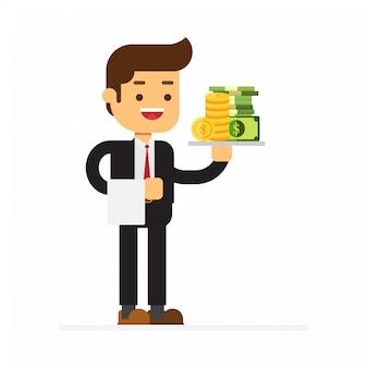 Businessman waiter