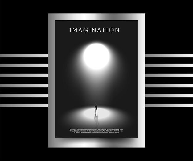 Businessman walking towards his ambition imagination premium vector