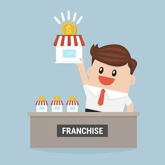 사업가 자신의 프랜차이즈를 확장하고 싶습니다.