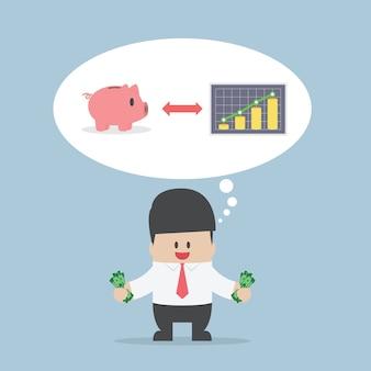 사업가 자신의 돈을 관리