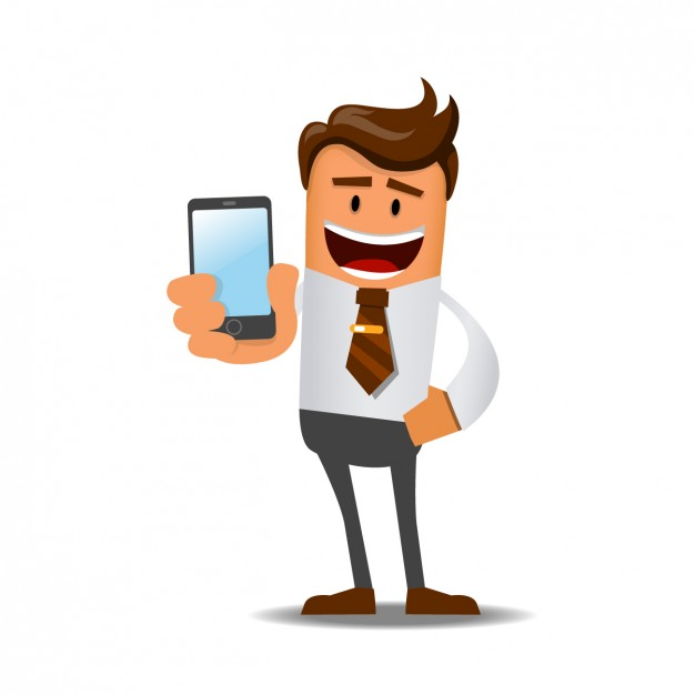 Businessman with a mobile