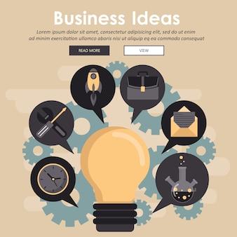アイデアの概念を持つビジネスマン