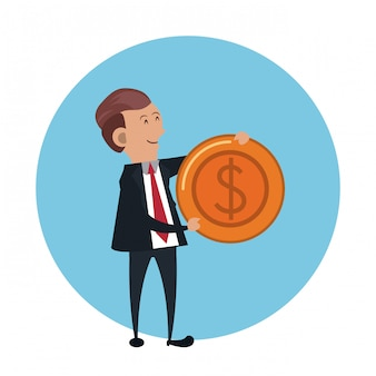 Businessman with coin