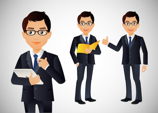 Businessman with different poses