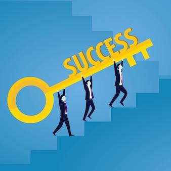 성공의 열쇠를 가진 사업가
