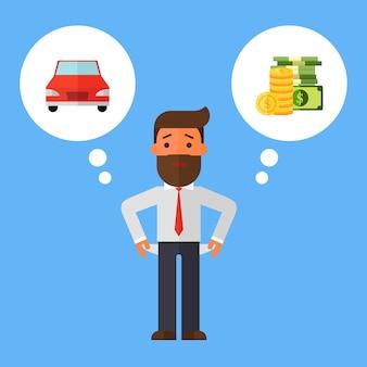 Businessman with no money, bankrupt