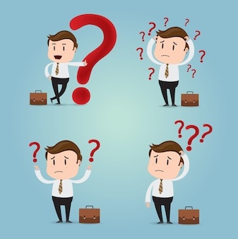 Businessman with Question