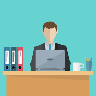 Businessman working background
