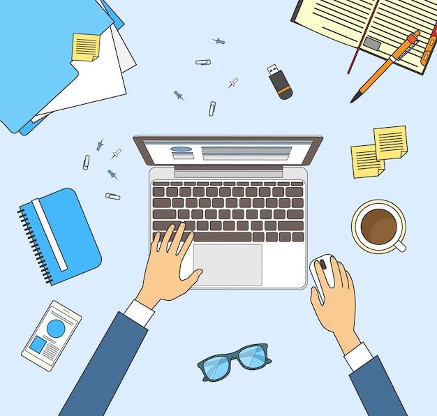 Рабочий стол рабочего места бизнесмена