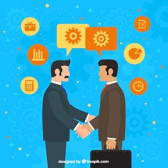 Businessmen agreement background