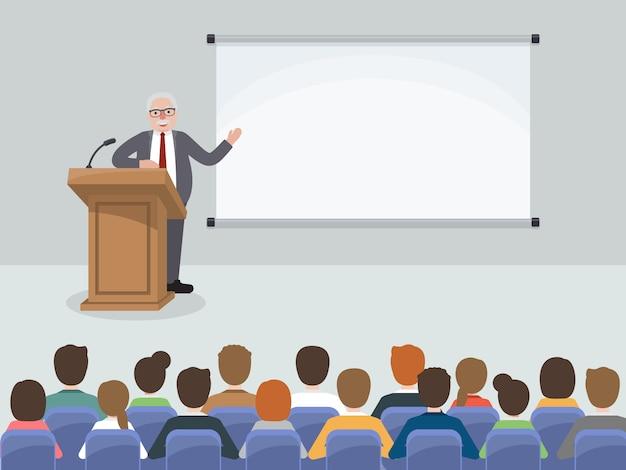 ビジネスマンやビジネスウーマンの会議。