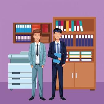 Businessmen avatar cartoon character