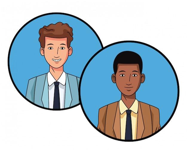 Businessmen avatar profile picture in round