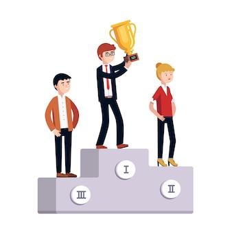 Предприниматели празднуют деловые достижения
