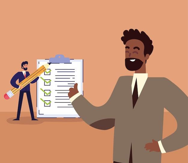 Businessmen checklist design