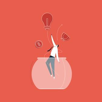 Бизнесмены выходят из зоны комфорта к успеху