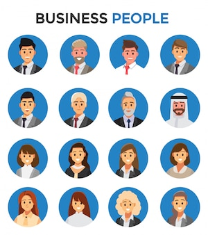 Businessmen consulting . business people concept cartoon illustration