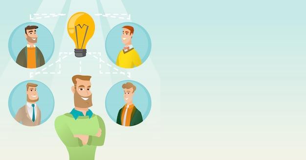 Businessmen discussing business ideas.