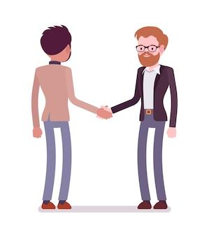 Businessmen in handshake