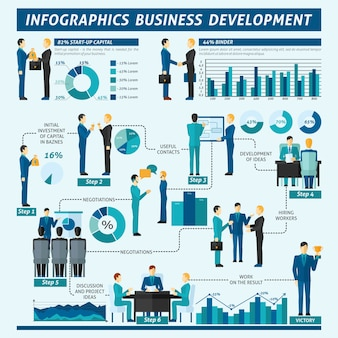 Businessmen infographics set