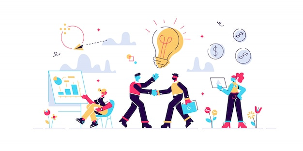 Businessmen making agreement. brand management. company collaboration. partnership and agreement, cooperation and teamwork, business partners concept. isolated concept creative illustration