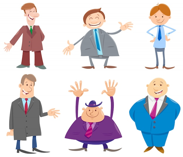 Businessmen or men cartoon characters collection